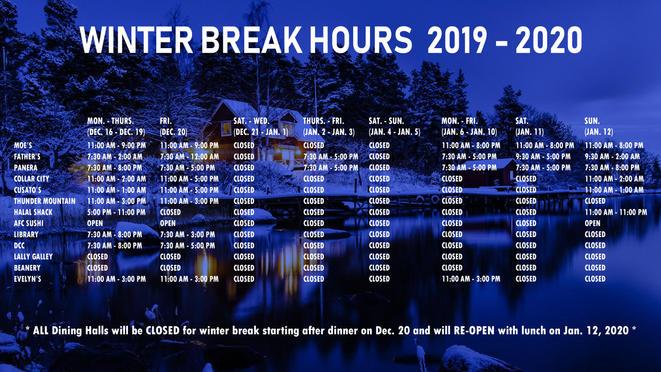 Winter Break Hours DS