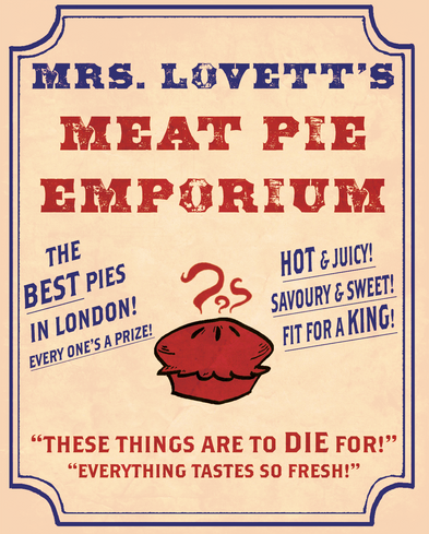 Mrs. Lovett's Pie Shop Ad