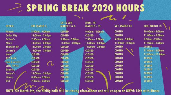 Spring Break Hours DS