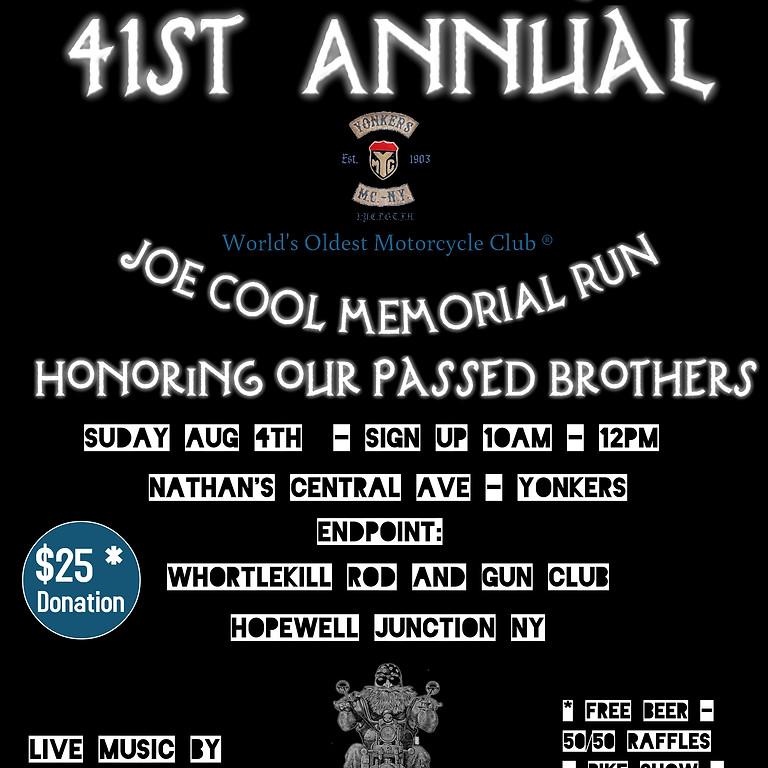 Yonkers MC 41st Annual Joe Cool Memorial Run