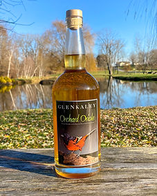 Orchard Oriole Plum  ​  Vibrant plum flavors integrated into a white whiskey, combined, and aged in Pinot Noir French Oak wine barrels.     A great combination of flavors! A true reflection of the Hudson Valley spirit traditions of long ago.   Offered only at the distillery 76 proof 100% Hudson Valley Grain 100% Hudson Valley Plums