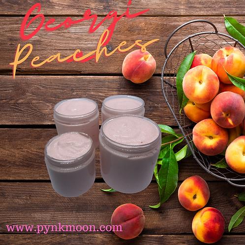 Georgia Peaches Foaming Sugar Srub
