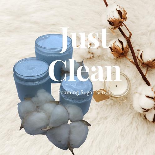 Just Clean Foaming Sugar Scrub