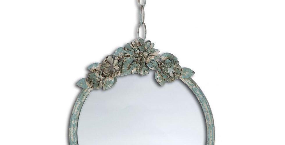 Spiegel rund mit Blumen - Mirror with flower