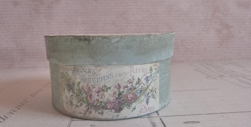 Hutschachtel  Fleurs- Hat box fleurs