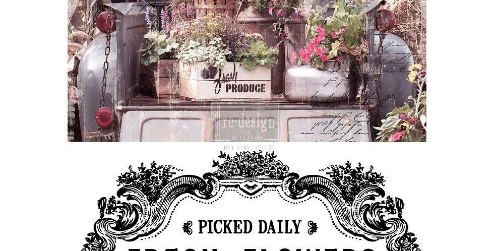 Transfer Papier fresh flowers-