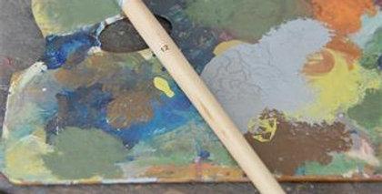 Pinsel flach Nr. 12 - paint brush flat