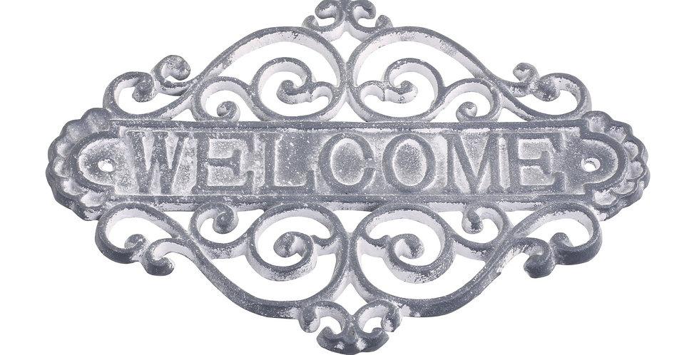 Metal Schild Welcome -  Sign