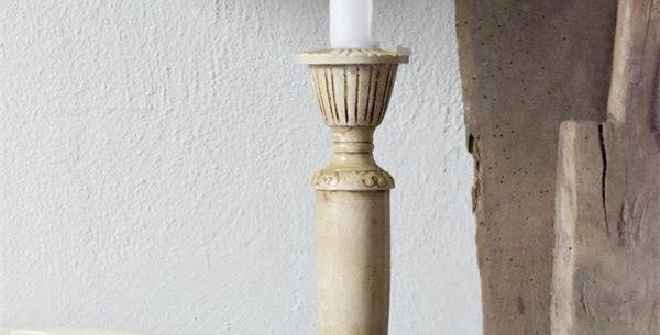 Kerzen Halter creme dunkel - candle holder