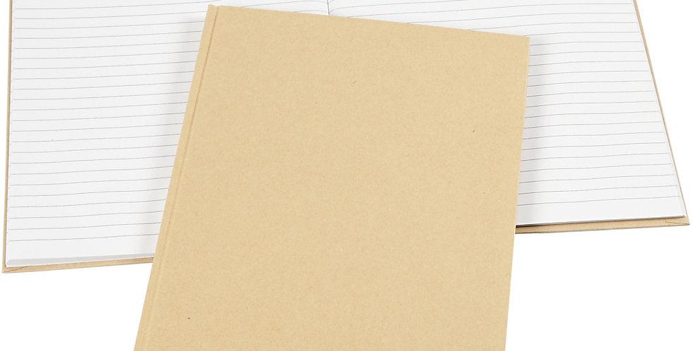 Notizbuch, braun A4-notebook
