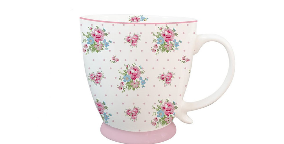 Porzellantasse Marie dots pink - mug
