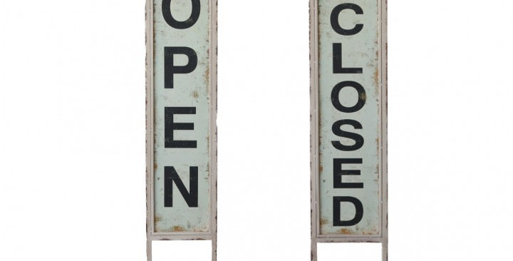 Open/Closed Schild - Sign