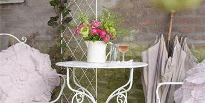 Gartenset-Gartentisch rund-und 2 Stühle rund - Garden table round