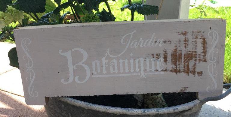 Jardin Botanique Schild -Sign