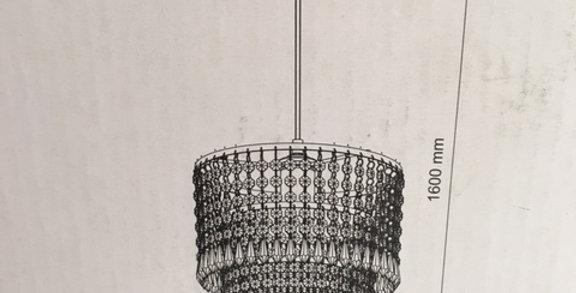 Lamp - Imitation Kristall -Gold