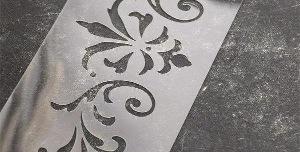 Schablone Flowers -Stencil