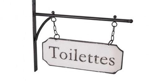 Schild Emaille - Toilette