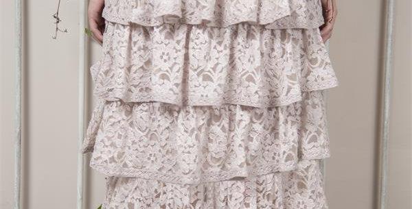 Rock Spitze Fanny - rose- skirt lace Fanny