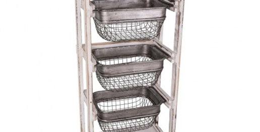 Regal mit Körben -Shelf with 3 baskets