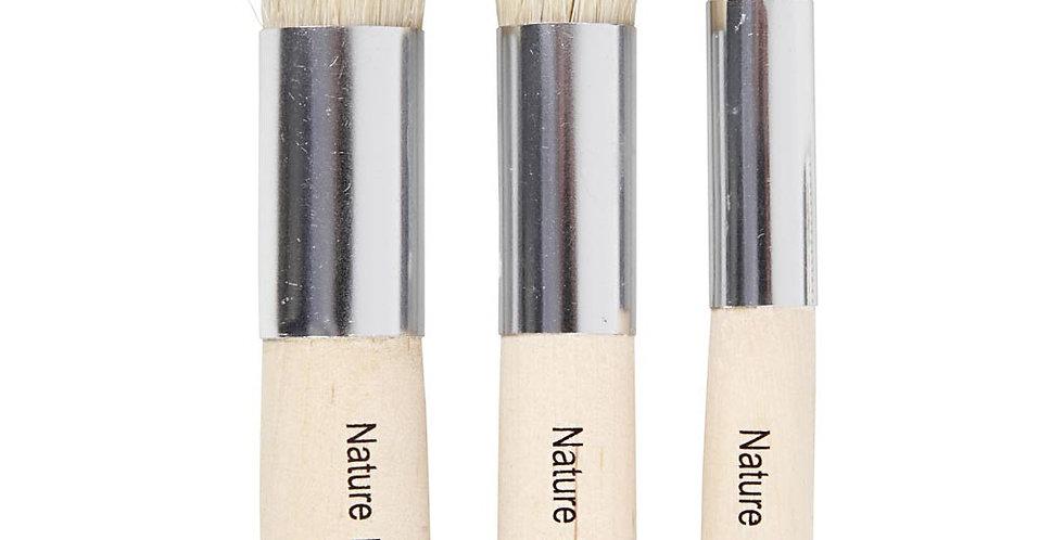 Schablonenpinsel klein, Stencilbrushes small