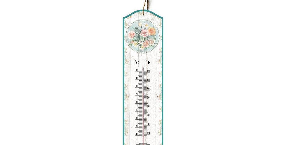 Thermometer mit Blumen