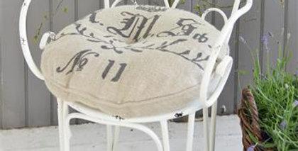 Gartenstuhl antike weiss- garden chair