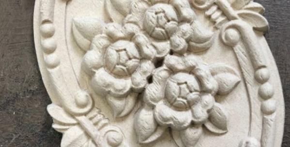 Woodubend -Floral Plaque 2098