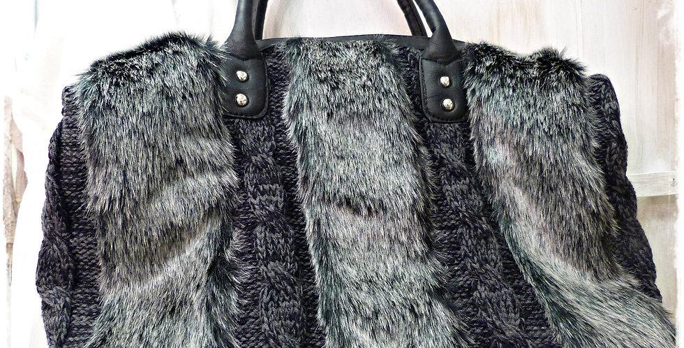 Tasche grau/schwarz - Bag