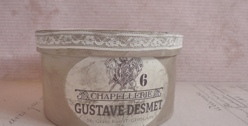 Hutschachtel Gustav Desmet - Hat box Gustav Desmet