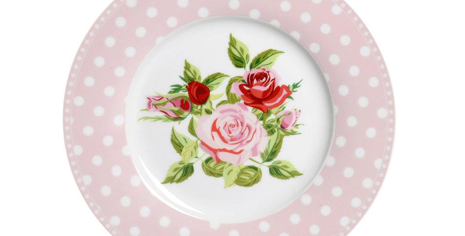Desset Teller mit Rosen - dessert plate
