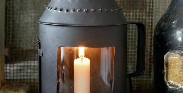 Lanterne 44cm mit schwarze Patina - Lantern