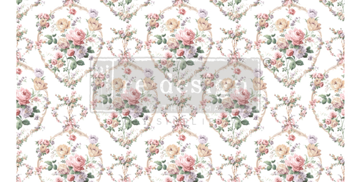 Floral Court Decor Transfers -