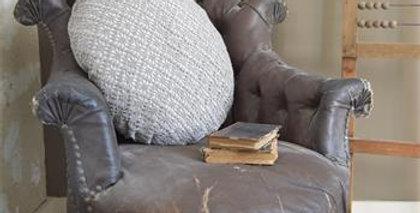 Kissen gehäckelt grau - pillow crocheted grey