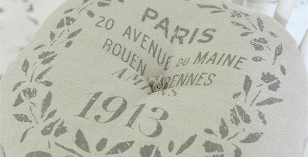 Runde Kissen Leinen- Amiens Paris- round cushion