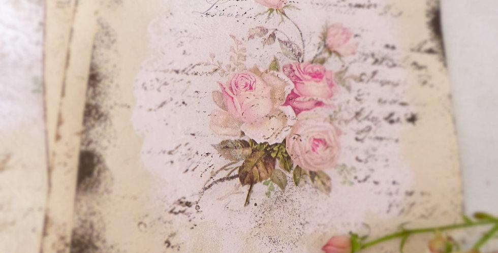 Dekorierte Papier Rosen - decorated paper