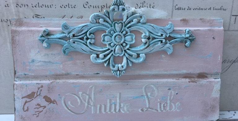 Antike Liebe Schild Rosa