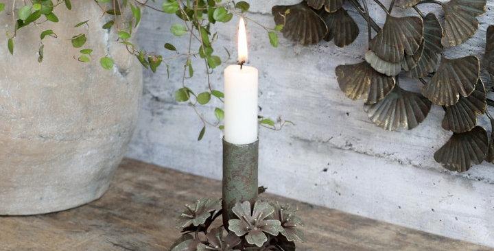 Kerzenständer mit Blumen Chic -candle stick