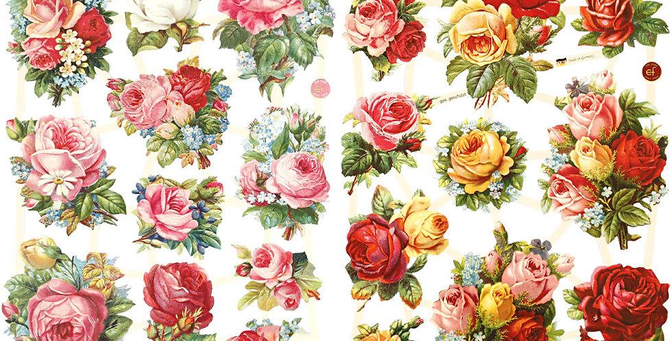 Vintage Glanzbilder -Die cuts Roses Type xc
