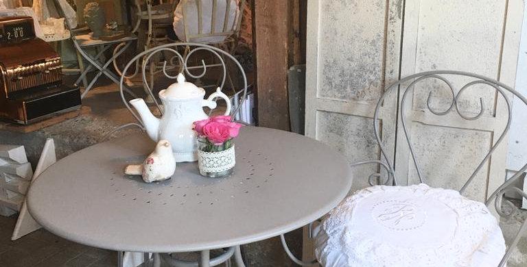 Garten Stuhl hell grau -garden chair grey