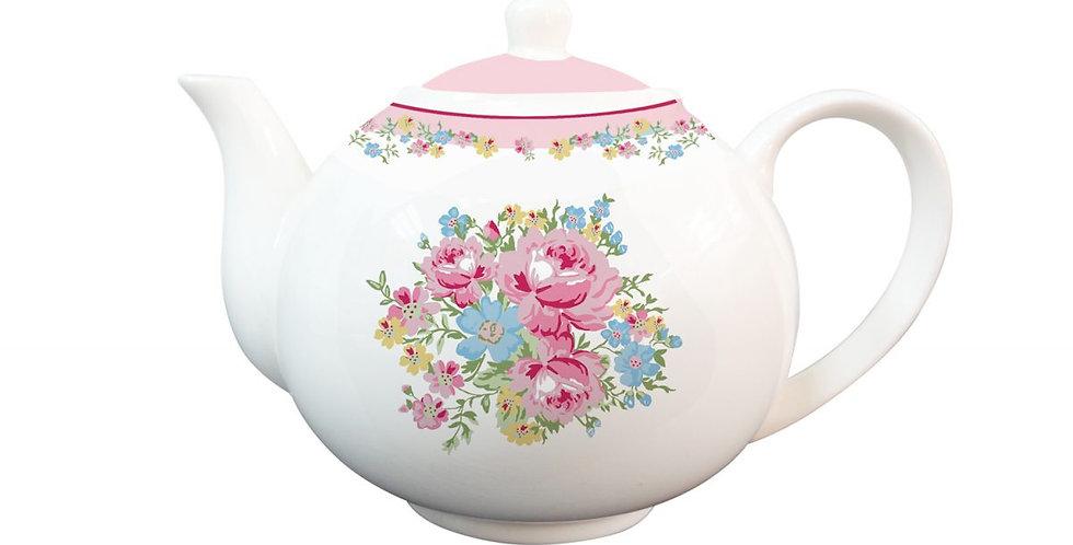 Porzellanteekanne Rosen-Tea Pot roses