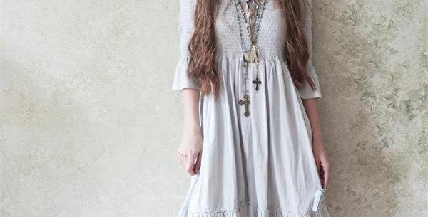Kleid Forever joyful  grau- Dress gry