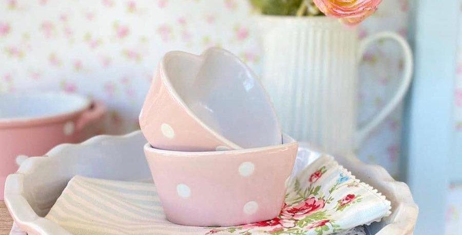 Pie teller rosa rund-