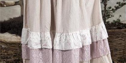Rock mit Ruschen rosa - romantic skirt rose with ruffles