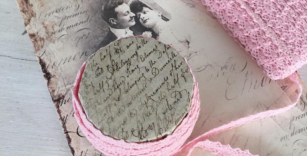 Spitze rosa 1cm-lace rosa