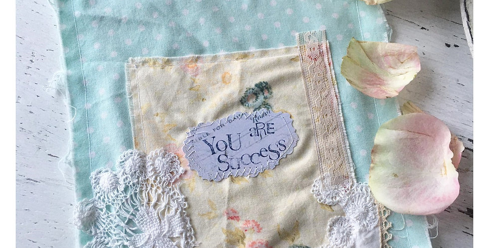 Karte/Stoffkarte You are Sucess. Card-Fabric card