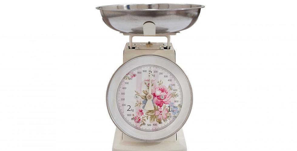 Emaille Retro Style Küchenwaageenwaage-Streifen Beige- Scale