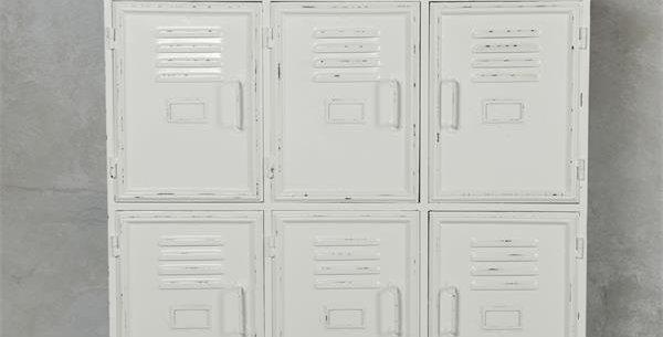 Metallschrank weiss -metal cabinet