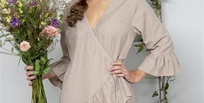 Kleid Lovely affection  Leinen Farbe- dress in linen color.