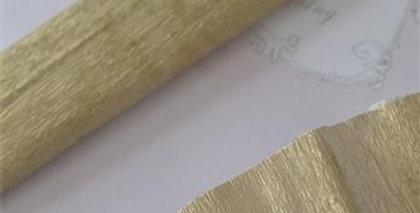 Krepp Papier Gold - crepe paper