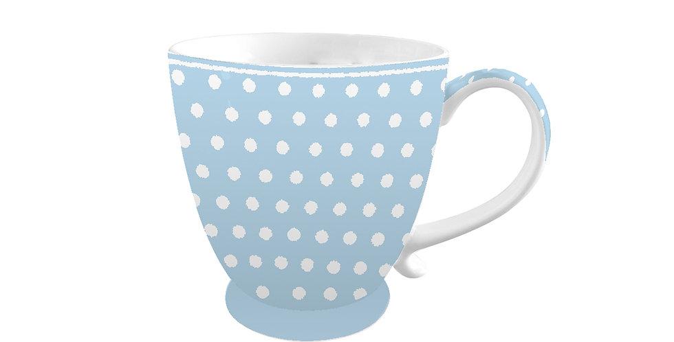 Porzellantasse Polka Dot pastelblau - mug